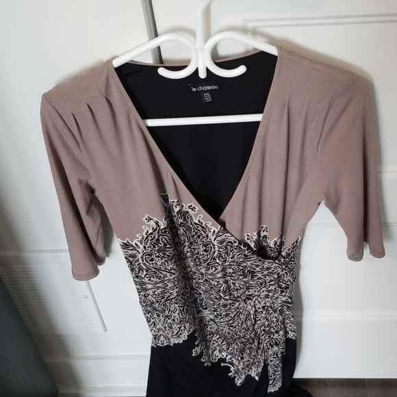 Dress with linnig